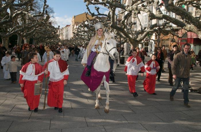 El obispillo, Navidad en Burgos